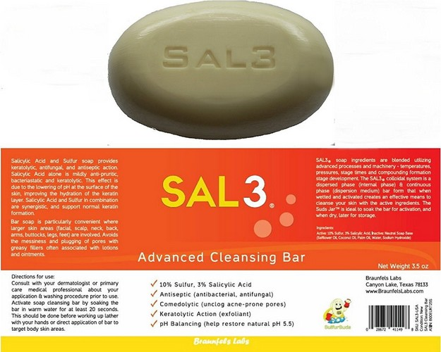 soap sal3 salicylic acid and sulfur soap